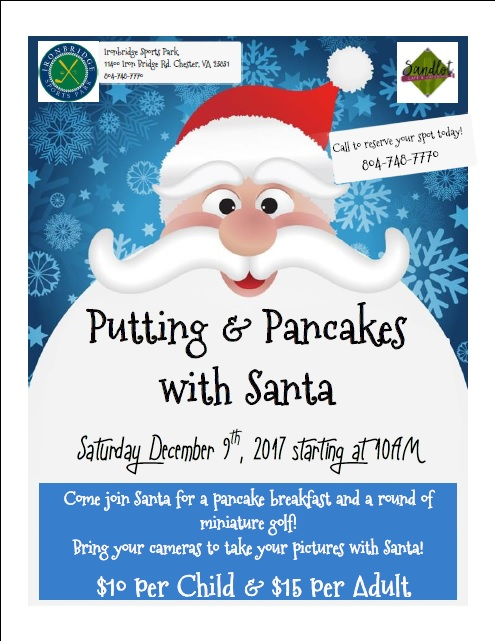 Putting and Pancakes with Santa