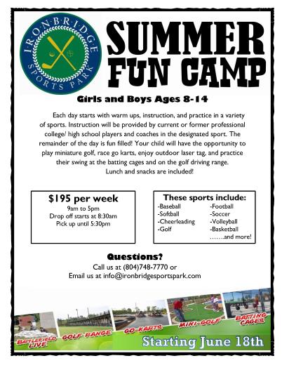 Summer Fun Camp 2018
